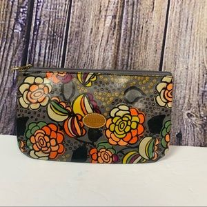 Fossil Makeup Canvas Cosmetic Floral Print Pouch